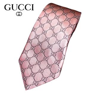 Gucci - 【美品】グッチ GUCCI メンズ ネクタイ GGパターン柄 シルク イタリア