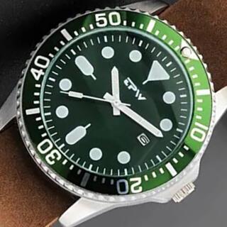 新品 TPW ラグジュアリーオマージュウォッチ 本革ストラップ メンズ腕時計