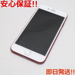 アイフォーン(iPhone)の超美品 SIMフリー iPhone7 256GB レッド (スマートフォン本体)