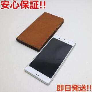 エクスペリア(Xperia)の新品同様 au SOL26 Xperia Z3 ホワイト 白ロム(スマートフォン本体)