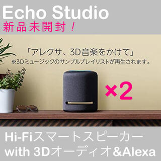 新品未開封 Echo Studio エコースタジオ 2個SET