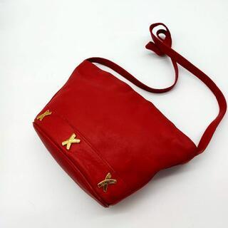パロマピカソ(Paloma Picasso)のパロマ・ピカソ 本皮 ショルダーバック 赤 パロマピカソ イタリア製 ITALY(ショルダーバッグ)