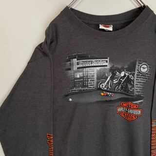 ハーレーダビッドソン(Harley Davidson)のハーレーダビッドソン ハーレー ロンT HARLEYDAVIDSON 長袖 古着(Tシャツ/カットソー(七分/長袖))