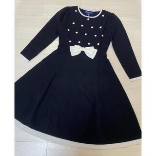 M'S GRACY - エムズグレイシー♡ポンポンおリボンニットワンピース 40