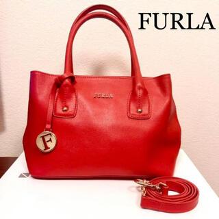 Furla - 【美品】FURLA フルラ レザー ショルダーバッグ ハンドバッグ トートバッグ