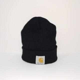 カーハート(carhartt)の90s Carhartt カーハート ビーニー ニット帽 黒 CANADA製(ニット帽/ビーニー)
