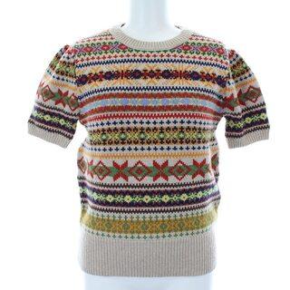 POLO RALPH LAUREN - ポロ ラルフローレン ニット セーター 半袖 ノルディック柄 XS マルチカラー