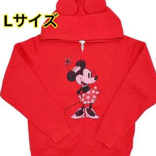 Disney - 新品タグ付き! ディズニー ミニー  パーカー Lサイズ 赤