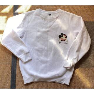 Disney - 【ユーズド】【レディースM】ミッキー 裏起毛トレーナー ホワイト