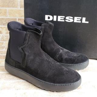 ディーゼル(DIESEL)の未使用 ディーゼル ☆ スエードレザー サイドゴア ショートブーツ 42 黒(ブーツ)