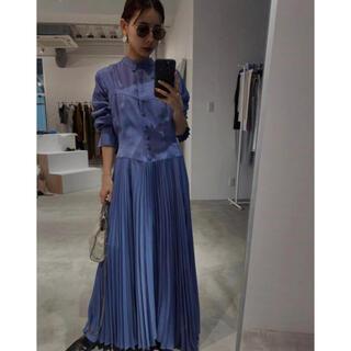 Ameri VINTAGE - ameri vintage SHAPELY CORSET DRESS ブルー