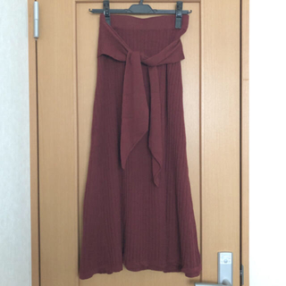 GRACE CONTINENTAL - グレースコンチネンタル ダイアグラム ベルト付きニットロングスカート