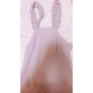 アンクルージュ(Ank Rouge)の量産型 サスペンダー付きスカート(ひざ丈スカート)