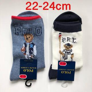 ポロラルフローレン(POLO RALPH LAUREN)のポロラルフローレン 靴下ソックス 22-24cm ベア 2足セット新品未使用(ソックス)