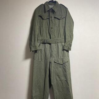 イギリス軍 グリーンデニム つなぎ ジャケット パンツ オーバーオール