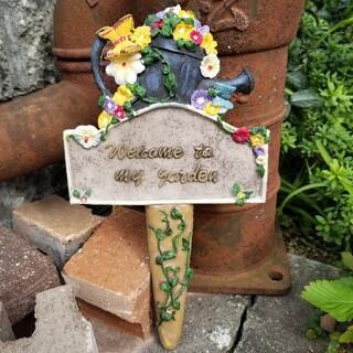 【輸入品】陶器製のピック✿࿐⋆*Welcome to my garden*⋆࿐✿