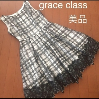 GRACE CONTINENTAL - グレースクラス⭐定価58000円+税⭐刺繍/花柄チュールワンピース