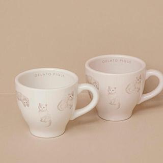 ジェラートピケ(gelato pique)のジェラートピケ  ネコ柄マグカップ(グラス/カップ)