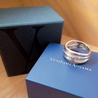 ヴァンドームアオヤマ(Vendome Aoyama)の【ヴァンドーム】 k18  pt900 ダイヤ リング 13号 約7.5g(リング(指輪))