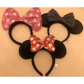 Disney - ディズニー カチューシャ 3本セット りぼん ミニー