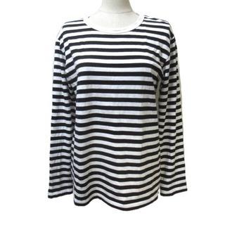 アニエスベー(agnes b.)のアニエスベー 近年 長袖 カットソー バスクシャツ Tシャツ 白 黒 T3 L(カットソー(長袖/七分))
