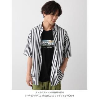 レイジブルー(RAGEBLUE)のRAGEBLUE   ストライプ半袖シャツ(シャツ)