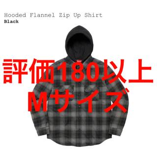 Supreme - supreme hooded flannel zipup shirt black