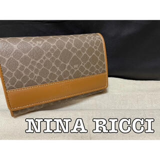 ニナリッチ(NINA RICCI)の【美品】NINA RICCI  二つ折り財布  ニナリッチ 折り財布(財布)