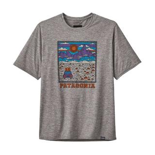 パタゴニア(patagonia)のパタゴニア キャプリーン・クール・デイリー ロゴ グレーM(Tシャツ/カットソー(半袖/袖なし))