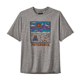 パタゴニア(patagonia)のパタゴニア キャプリーン・クール・デイリー ロゴ グレーL(Tシャツ/カットソー(半袖/袖なし))