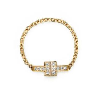 Tiffany & Co. - Tiffany Tダイアモンドチェーンリング