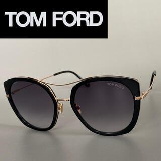 トムフォード(TOM FORD)のサングラス トムフォード ブラック ゴールド キャットアイ アジアンフィット(サングラス/メガネ)