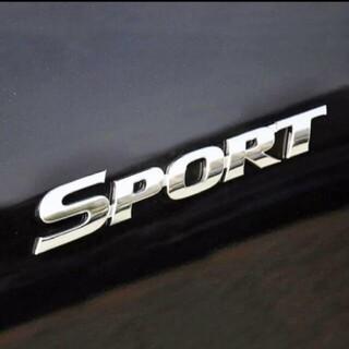 3D メタルエンブレム  SPORT ステッカークロームメッキ sport
