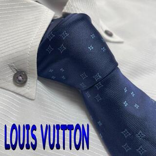 LOUIS VUITTON - ルイ・ヴィトン  ネクタイ【未着用品】モノグラム 光沢 厚手