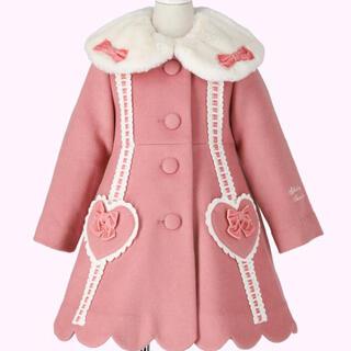 Shirley Temple - シャーリーテンプル はしごリボンウールコート ピンク ベビーフリー 新品