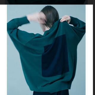 1LDK SELECT - stein 19ss SQUARE MOTION KNIT L/S Green