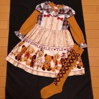Shirley Temple - 新品シャーリーテンプル 110 くま熊 テディベア ワンピースセット