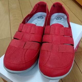 クラークス(Clarks)の新品最安値Clarksクラークススリッポンスニーカー皮革24cm靴シューズ(スニーカー)