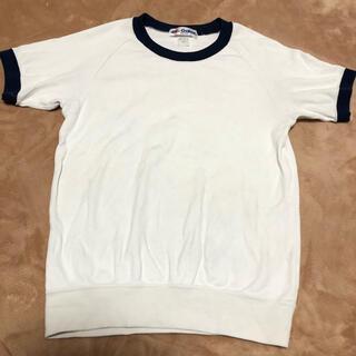 ギャレックス 140 中古 体操服 半袖 白 ネイビー 紺色 小学校 小学生