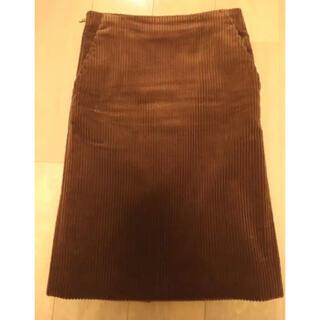 ドゥロワー(Drawer)のドゥロワーコーデュロイタイトスカート34(ひざ丈スカート)