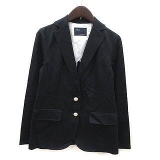 イエナ(IENA)のイエナ IENA テーラードジャケット 背抜き 麻混 リネン混 長袖 黒 ブラッ(その他)