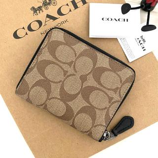 COACH - 超最新作‼︎新品 COACH コーチ 折り財布 カーキ ブラック 黒色