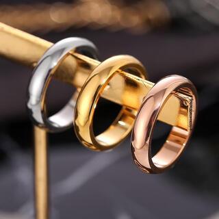 高品質 ツヤリング ステンレスリング ステンレス指輪 ピンキーリング ピンク