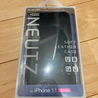 ELECOM - エレコム iPhone11 ケース カバー 手帳 フラップ レザー マグネット