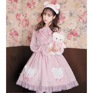 Angelic Pretty - 【新品】しろくまアップリケジャンパースカートSet(ピンク)