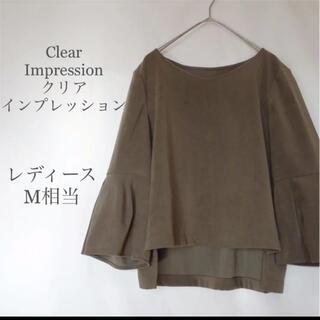 クリアインプレッション(CLEAR IMPRESSION)のクリアインプレッション レディースブラウス トップス フレアスリーブ M(シャツ/ブラウス(長袖/七分))