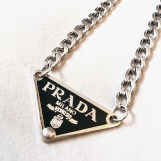 PRADA - PRADA  プラダ  ヴィンテージ  ロゴプレートネックレス