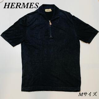 Hermes - エルメス 最高級シルク・リネン製 半袖 ポロシャツ