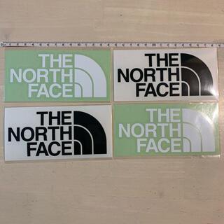 THE NORTH FACE - ノースフェイス カッティング ステッカー 黒 白 各2枚セット