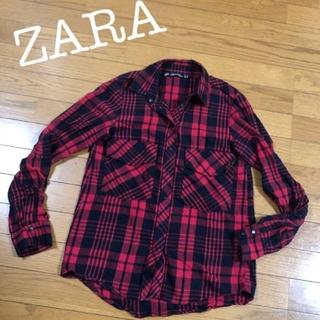 ZARA - ZARA ネルシャツ 赤 ZARA WOMAN